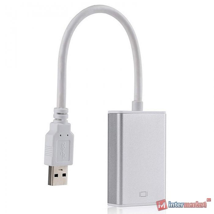 Кабель-переходник PowerPlant USB 3.0 M - HDMI Female