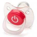 Соска Happy Baby Baby Pacifier 0-12 мес ортодонтической формы c колпачком Red